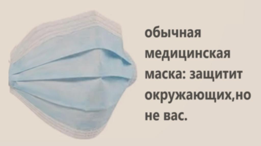 обычная медицинская маска от коронавируса
