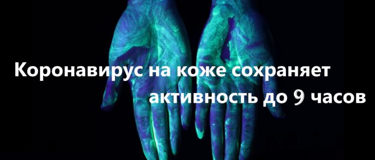Коронавирус на коже человека активен до 9 часов