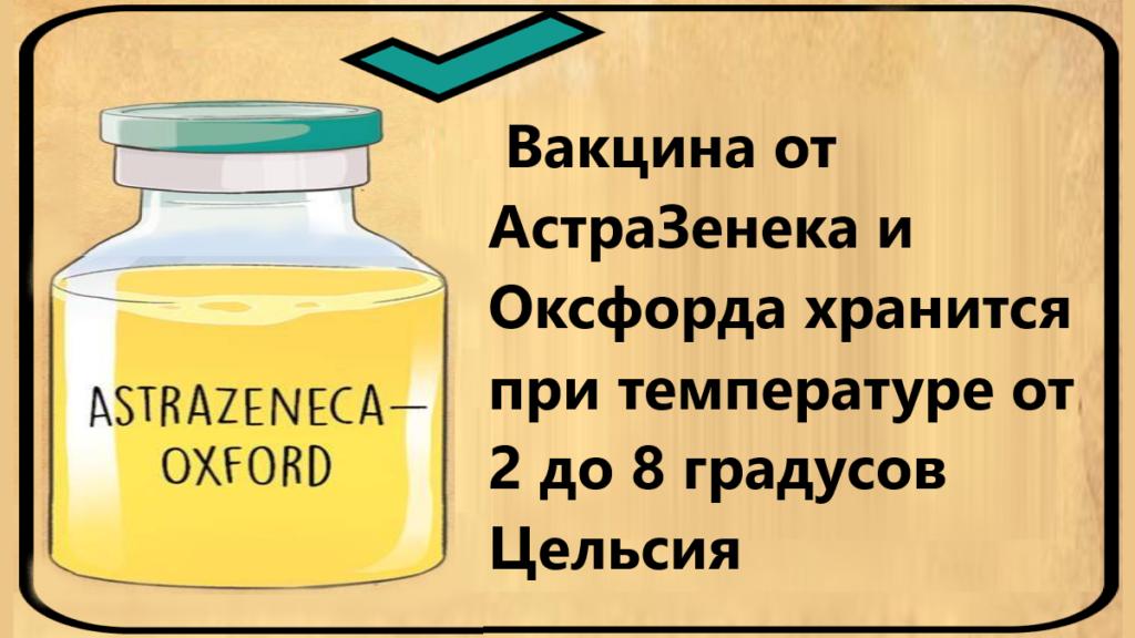условия хранения вакцины от коронавируса АстраЗенека и Оксфорд