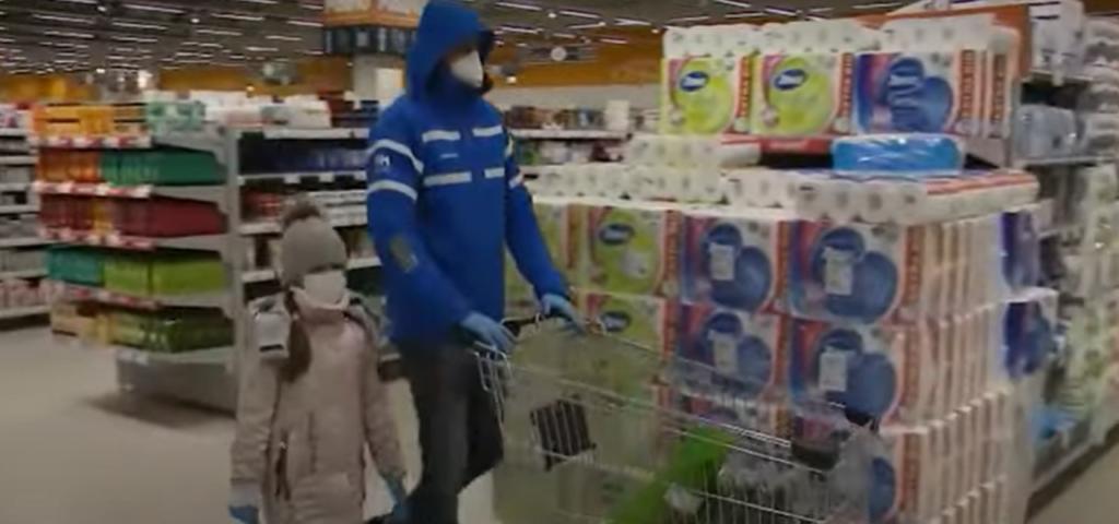 Посещение магазинов в Москве, в условиях коронавирус ковид 19
