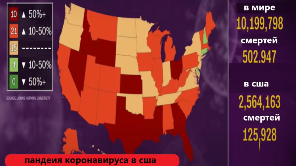 статистика коронавируса в сша